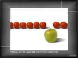 Apple / Newton Framed Canvas Print