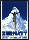 Zermatt Framed Canvas Print by Pierre Kramer