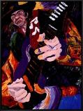 Blues Jam Impressão em tela emoldurada por Dane Tilghman