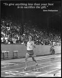 Steve Prefontaine: The Gift Framed Canvas Print