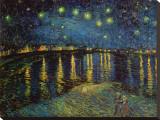 Noite estrelada sobre o Ródano, cerca de 1888 Impressão em tela esticada