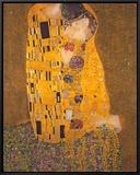 The Kiss, c.1907 Framed Canvas Print by Gustav Klimt