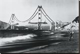 Golden Gate Fishermen, San Francisco Stretched Canvas Print