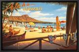 Aloha Hawaii Framed Canvas Print by Kerne Erickson