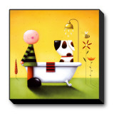 Bathtime Stretched Canvas Print by Jo Parry