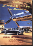 Fly the Rolls Royce way to London, 1953 Stretched Canvas Print