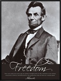Freedom: Abraham Lincoln Impressão em tela emoldurada