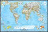 World Political Map Framed Canvas Print