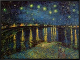 Starry Night Over the Rhone, c.1888 Framed Canvas Print