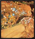 Serpentes d'Água II, c.1907 (detalhe) Impressão em tela emoldurada por Gustav Klimt