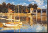 De brug bij Argenteuil Kunst op gespannen canvas van Claude Monet