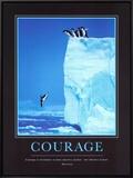 Coragem, em inglês Impressão em tela emoldurada por Steve Bloom