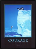Courage Framed Canvas Print by Steve Bloom
