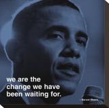 Barack Obama: Change Stretched Canvas Print
