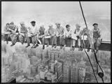 Almoço no topo de um arranha-céu, cerca de 1932 Impressão em tela emoldurada por Charles C. Ebbets