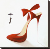 Highheels, Obsession Stretched Canvas Print by Inna Panasenko