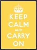 Keep Calm and Carry On Framed Canvas Print by  The Vintage Collection