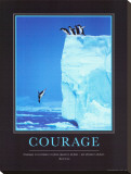 Courage Stretched Canvas Print by Steve Bloom