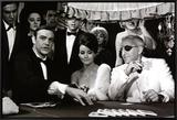James Bond at the Casino, Thunderball Impressão em tela emoldurada
