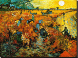 The Red Vineyard at Arles, c.1888 Stretched Canvas Print