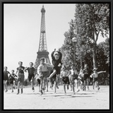 Champs de Mars Gardens Framed Canvas Print by Robert Doisneau