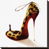 Highheels, Wild Passion Stretched Canvas Print by Inna Panasenko