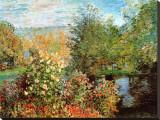 Stiller Winkel im Garten von Montgeron Pingotettu canvasvedos tekijänä Claude Monet