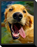 Golden Tongue Impressão em tela emoldurada por Robert Mcclintock
