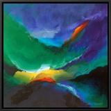 Ocean Dance I Framed Canvas Print by Lanie Loreth