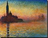 Pôr do Sol em Veneza Impressão em tela esticada por Claude Monet