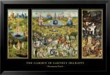 Maallisten ilojen puutarha (The Garden of Earthly Delights), noin 1504 Julisteet tekijänä Hieronymus Bosch