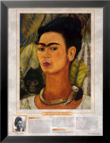 Notable Women Artists - Frida Kahlo - Self-Portrait with Monkey Prints by Frida Kahlo