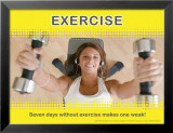 Exercice (carte postale grand format) Posters