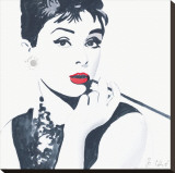 Audrey Hepburn Stretched Canvas Print by Bob Celic
