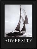 Adversidade Impressão em tela emoldurada