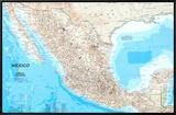Map of Mexico Impressão em tela emoldurada