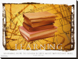 Learning Stretched Canvas Print