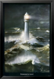 Lighthouse and Stormy Sea Prints by Steve Bloom