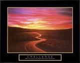 Challenge: Winding Road Impressão em tela emoldurada