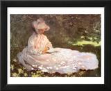 Woman Reading Kunst von Claude Monet