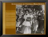 L'histoire à travers un objectif - Intégration à la Central High School Affiche