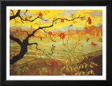 Apple Tree with Red Fruit, c.1902 Art by Paul Ranson