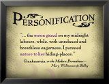 Personification Posters