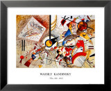 Bustling Aquarelle, c.1923 Prints by Wassily Kandinsky