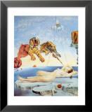 Rêve causé par le vol d'une abeille autour d'une pomme-grenade, vers 1944 Affiche par Salvador Dalí