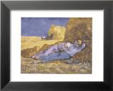 Descanso al mediodía (inspirado en Millet), c.1890 Pósters por Vincent van Gogh