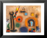 Libelle Mit Roten Flugeln Eine Schlange Jagend Posters by Joan Miró