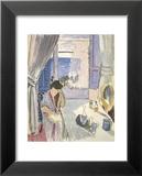 Woman Reading at a Dressing Table, Late 1919 Plakater av Henri Matisse