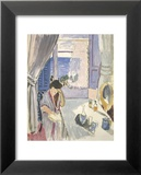 Woman Reading at a Dressing Table, Late 1919 Poster van Henri Matisse