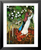 Drie Kaarsen Poster van Marc Chagall